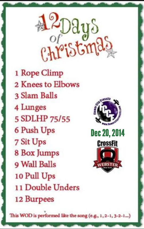 This Saturday -- 12 Days of Christmas WOD! - Flower City CrossFit