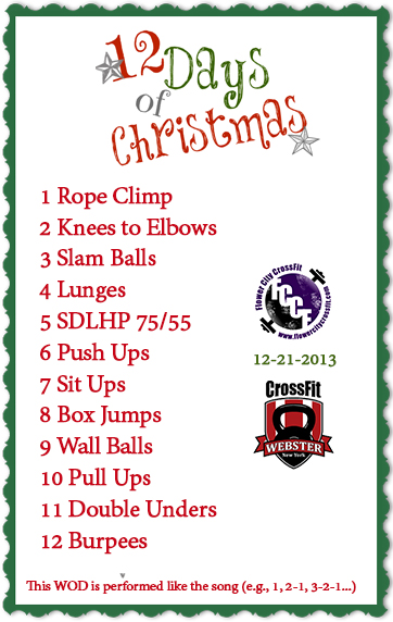 12 Days Of Christmas Crossfit Wod.12 Days Of Christmas Wod Flower City Crossfit